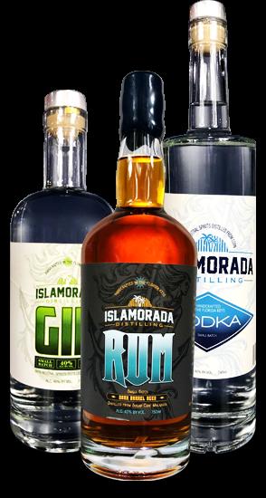 Islamorada Rum, Islamorada Gin, Islamorada Vodka